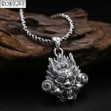 Novo! Feito à mão 925 pingente de dragão de prata tailandês do vintage forte dragão pingente homem jóias presente colar pingente