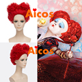 Alice in Wonderland Red Queen Wig Women Girl's Short Curly Red Color Movie Cosplay Wig Costume Party Wig