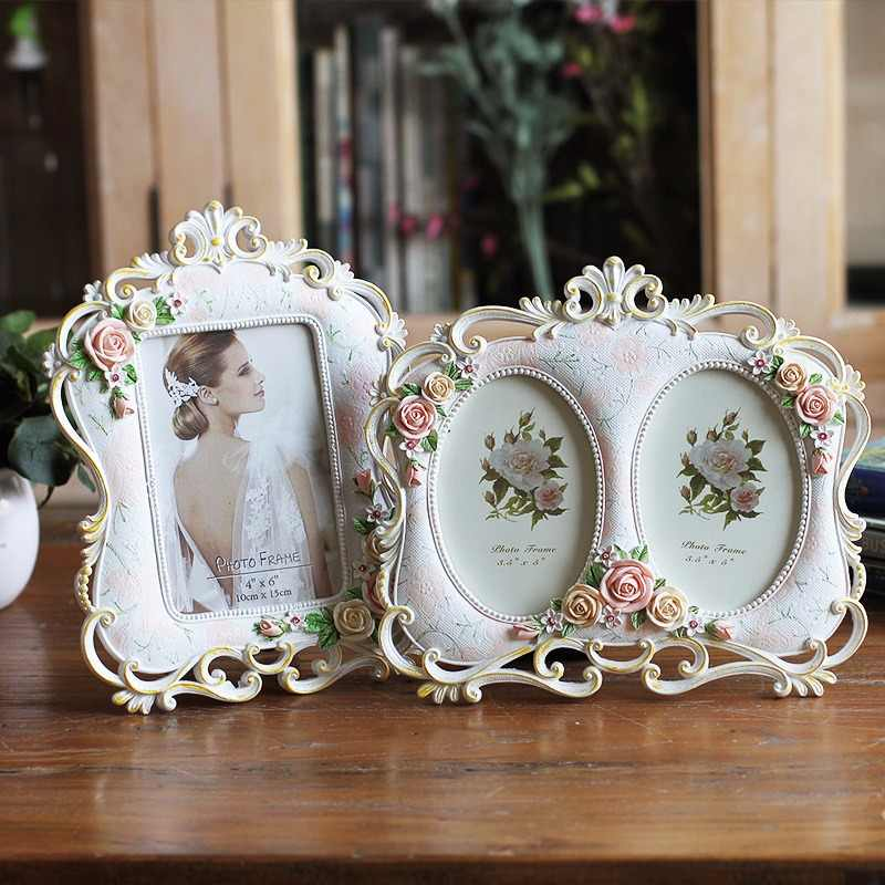 Decoration Photo Frame Holder Wedding Picture Resin Frame Act Painting Vintage Photo Frame, Wedding Birthday Gift, Free Shipping
