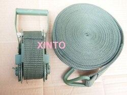 5TX6M---8M Militar qualidade, pacote do transporte catraca amarrar carga amarração cinta de transferência do caminhão do carro auto conjunto do cinto sling