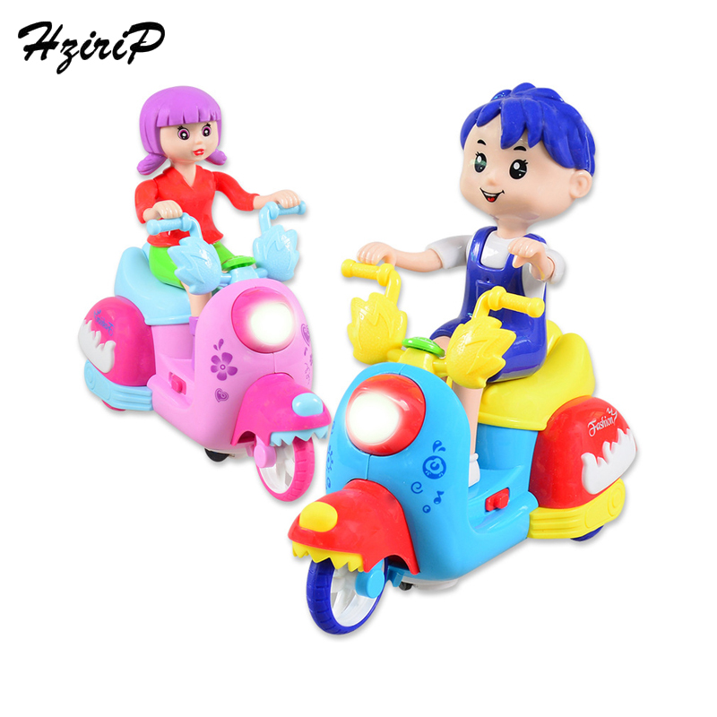 HziriP Childrens Motorcycle Toy Cartoon Simulation Electric Toys Car Model Toy With Music Lights Model Motorcycle Toys For Kids