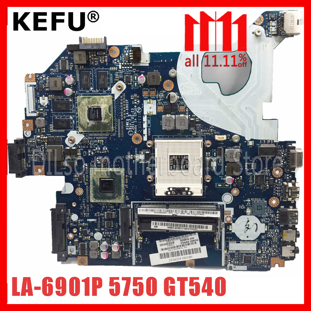 KEFU 5750 LA-6901P motherboard for acer 5755 5750G 5755G laptop motherboard GT540M original Test work 100% цена