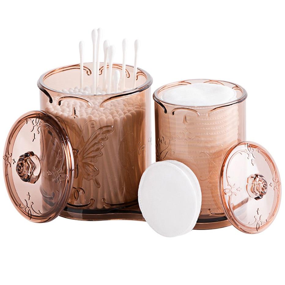 Transparent Cotton Swab Storage Box Makeup Organizer Cotton Pads Holder Cosmetics Container Make Up Organizer Storage Case1