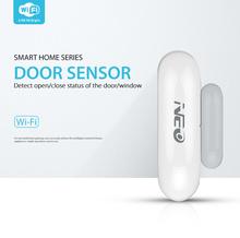 Tuya smart NEO WiFi inteligentne okna drzwi czujnik magnetyczny kontakt detektor powiadomienia o aplikacjach dla automatyki inteligentnego domu cheap Door Detector