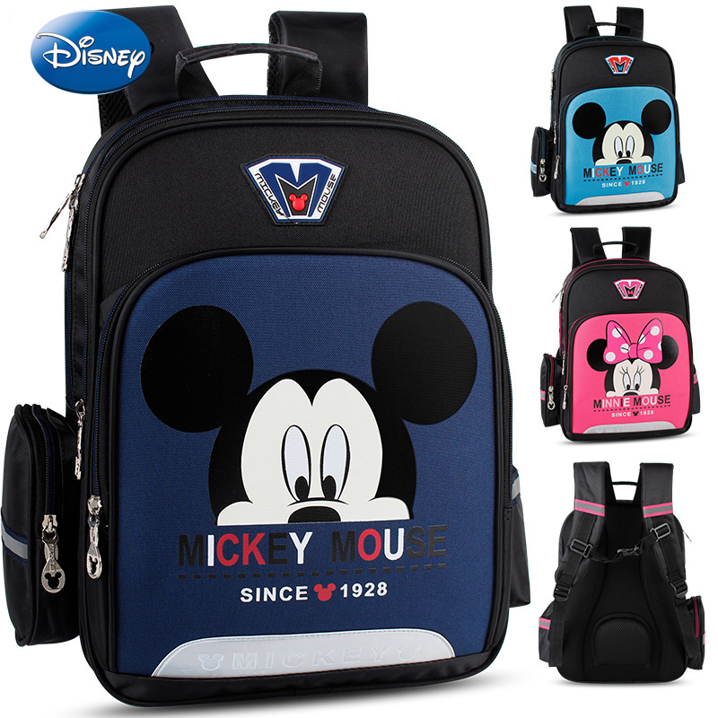Disney High Capacity Classic Pattern Student Backpacks Bookbag Grade 1-6 Childrens Backpack Kids Bags Schoolbag For Boys GirlsDisney High Capacity Classic Pattern Student Backpacks Bookbag Grade 1-6 Childrens Backpack Kids Bags Schoolbag For Boys Girls