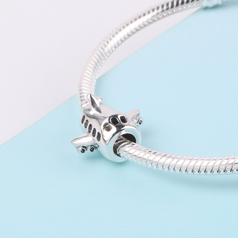 dodocharms New 925 Sterling Silver Aircraft Plane Beads For Women Fit Original Pandora Charms Bracelet Authentic Fashion Jewelry