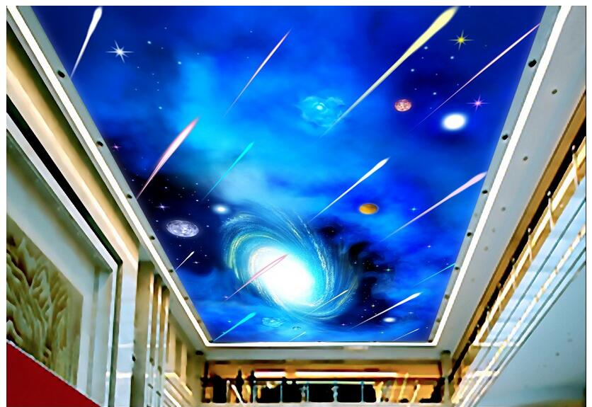 3d wallpaper custom photo non-woven mural wall sticker The sky meteor shower ceiling mural 3d wall room murals wallpaper