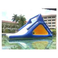 Inflatable water park equipment inflatable water triangle slides/floating water slide for sale