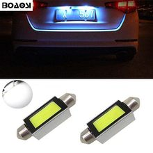 BOAOSI 2x Canbus No Error 36MM C5W LED License Plate Light For Audi A2 A3 A4 A5 A6 A7 A8 Q5 Q7 R8 RS4 RS5 RS6 RS7 TT 8L 8P B5 B6(China)