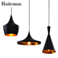 Huiteman Art Deco Design Pendant Lights Creative Personality Hanging Kitchen Restaurant Lamp White Black Color Bar