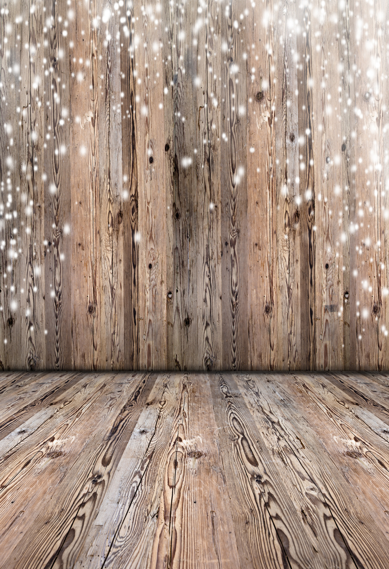 Washable cotton polyester brown wood Photography Background snowflake christmas backdrop baby children photo backdrops XT-5593