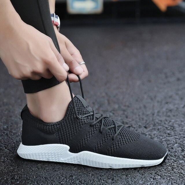 estilo clásico de 2019 reputación confiable forma elegante 2019 tallas grandes 39-44 zapatillas de deporte informales para Hombre  Zapatos de plataforma de malla transpirable para Hombre Zapatos de calle  para ...