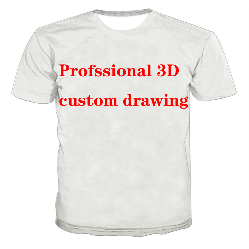 Fashion 3D Printing Custom T-shirt Summer Short-sleeved O-neck T-shirt Design Unisex Shirt 3d Printing Custom T-shirt Size S-6XL