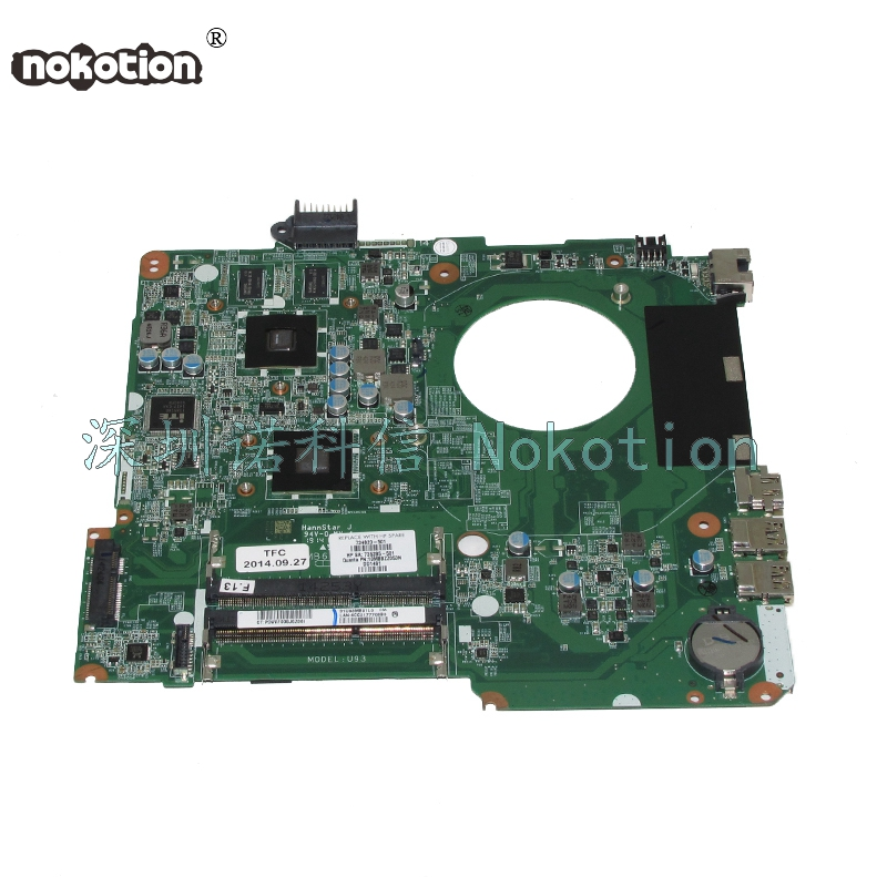 NOKOTION DA0U93MB6D2 734820-501 734820-001 735285-501 Main board For HP Pavilion 15-N Laptop motherboard A4-5000 CPU works 734820 501 734820 001 free shipping for hp pavolion 15 n 15z n laptop motherboard da0u93mb6d0 8670m 1g a4 5000 cpu