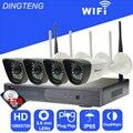 Holdoor 4CH Kit Câmera de Vigilância de Vídeo CCTV Câmera IP De Vigilância Por Vídeo Sem Fio Rede 1 TB HDD À Prova D' Água para o casa