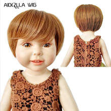Hot Sale Fashion American Doll Wig Blonde Brown Short BJD Wigs Size 18 Inch Cut High-temperature Wire Hair