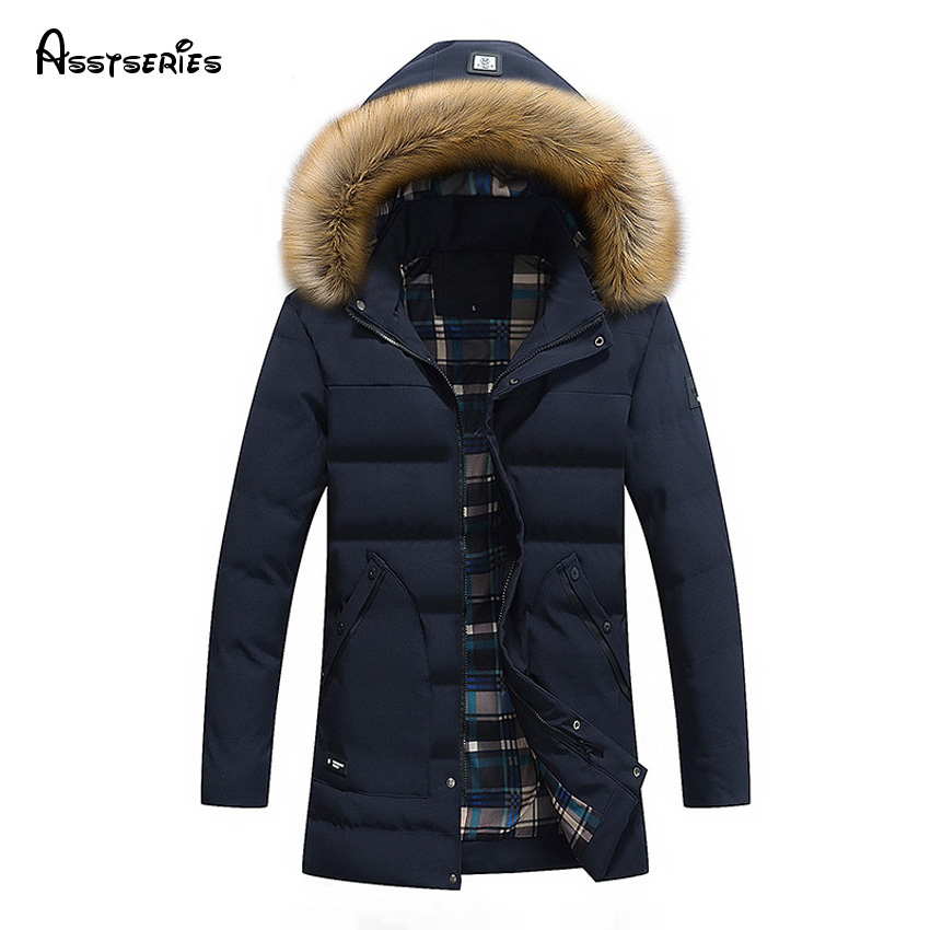2018 New Men Autumn Winter Outwear Warm   Down     Coat   Casual Male Winter White Duck   Down   Jackets Free Shipping 145