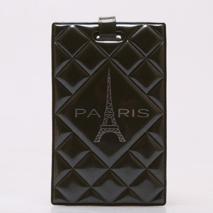 Eiffel Tower In Paris Pattern Creative Cute Luggage Tag Trunk Cards Strip Suitcase Label Bags Tags Travel Accessories