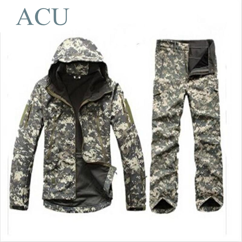 Tad v 4.0 Shark Skin Softshell Outdoors Camping Jacket Tactical Military Camouflage Hunting Jacket lurker shark skin soft shell v4 military tactical jacket men waterproof windproof warm coat camouflage hooded camo army clothing