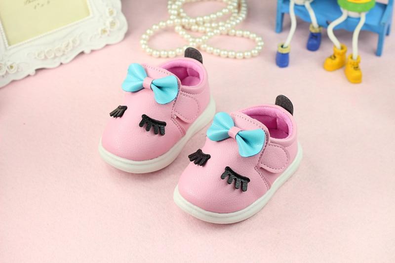 baby pige toddler sko bløde bund sko prinsesse billede geometri toddler sko sko bow børn første vandrere gratis fragt