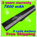 JIGU Laptop Battery for Asus A42J K52 K52F K52J K52JB K52JC K52JE K52JK K52JR A32-K52, 7800mAh 9 Cells, Free shipping