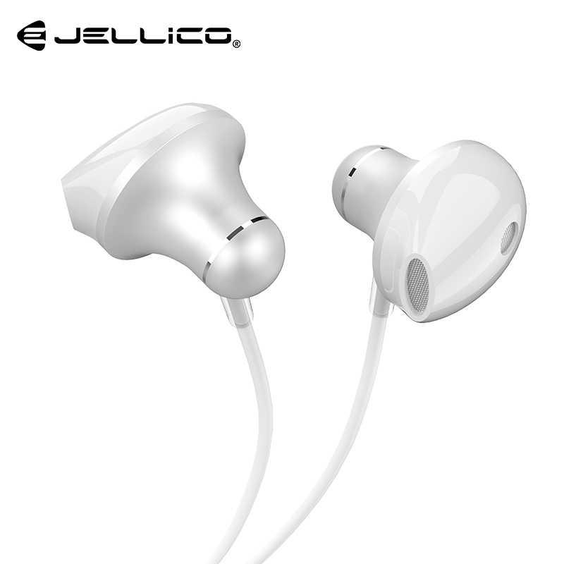 Jellico słuchawki douszne Stereo Bass słuchawki sportowe 3.5mm Jack sterowanie przewodowe Audio HiFi słuchawki douszne muzyka metalowa zestaw słuchawkowy do iPhone'a Xiaomi
