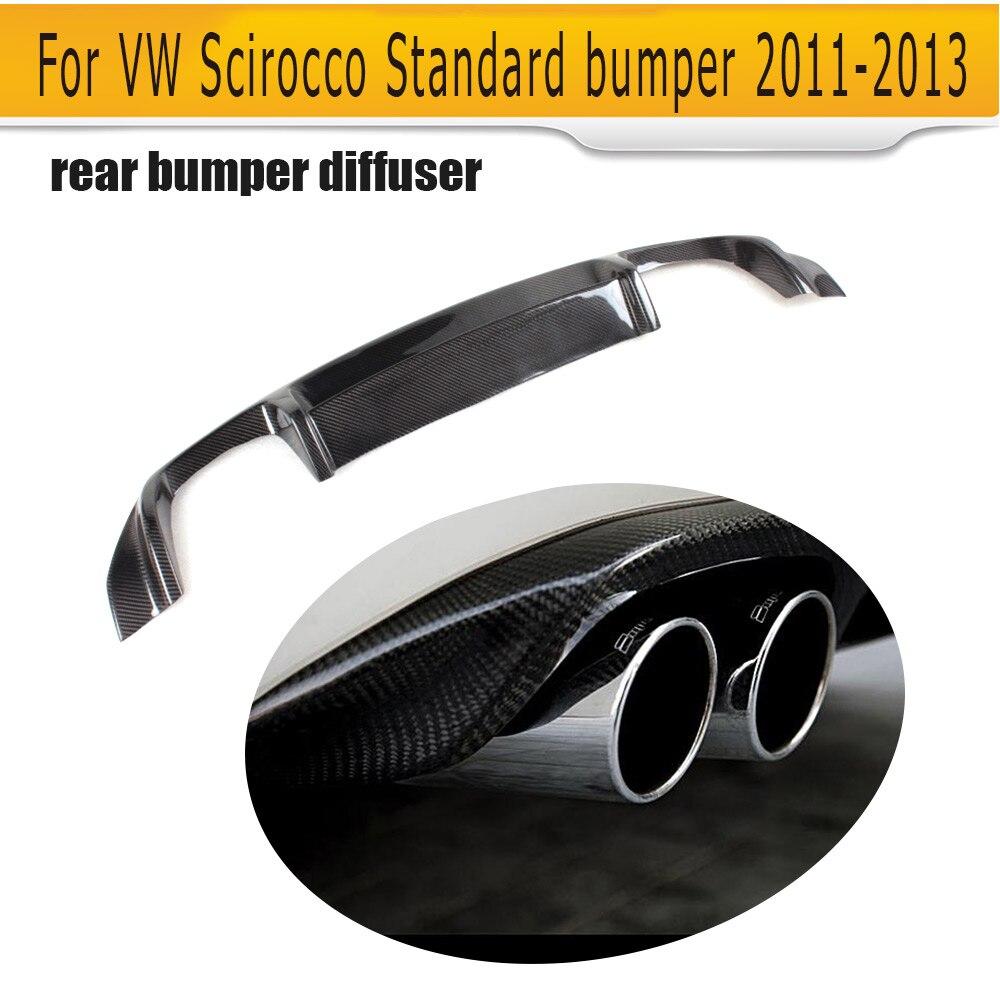 Carbon fiber auto car rear bumper diffuser lip for VW Scirocco Standard Only 10 13 Non R