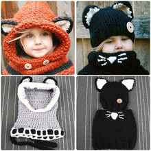 Child's Hat and Scarf Set Knitted Hat with Scarf Set