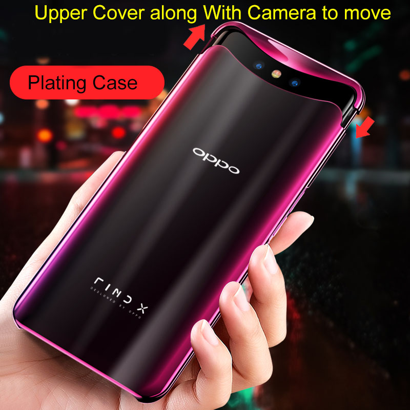 OPPO Find X case 360 Full Protection Magnetic Design Anti-shock Hard PC Cover Plain Oppo Find X plating fundas transparent shell