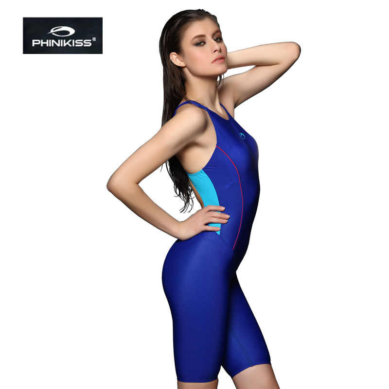 030fa4a917360 ... PHINIKISS Triathlon Suit Blue Slimming One Piece Swimsuit Female Sports  Swimwear Women Professional Racing Bathing Suit ...