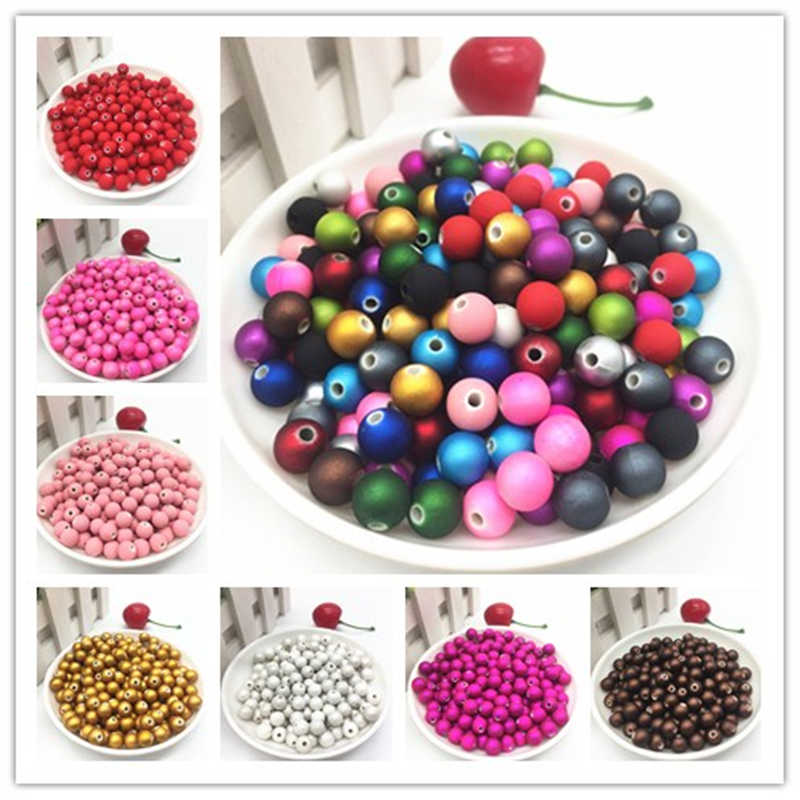 New 50pcs 8mm  Acrylic Beads Spacer Loose Bead For Jewelry Making Accessory Beads DIY