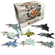 8PCS/Set First Generation 4D Plastic Assembled Airplane 1:165 Scale Puzzle Assembling Military Fighter Toys For Children