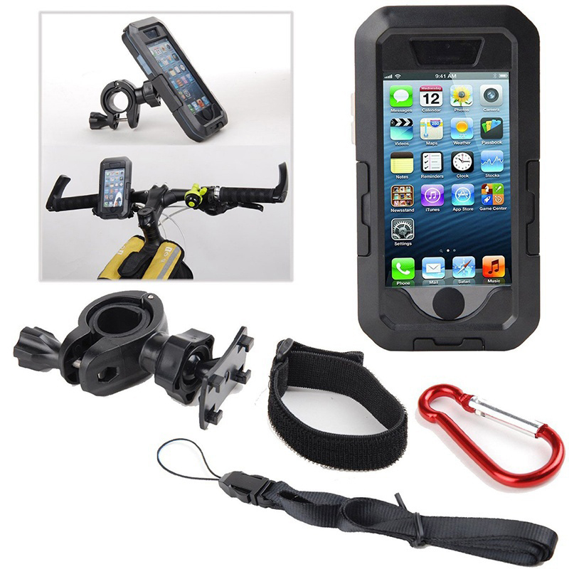 Image 3 - Bicycle Motorcycle Phone Holder For iPhone X 7 8 Plus Waterproof Telephone Support For Moto Stand Bag Bike Cover Mobile phonePhone Holders & Stands   -