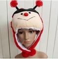Beanie Hat Cartoon Animal Plush Hat - Big red bee Cap Children and adults Skullies & Beanies
