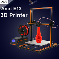 Original Anet E12 3D Printer Aluminium Alloy Frame Easy Assembly Large Size 300*300*400 3D Printing DIY Kit 3d Offlice Printer
