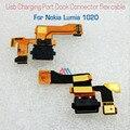 Оригинальные Запасные части Usb Зарядка Порт Dock Connector Flex Кабель для nokia lumia 1020 микрофон части быстрая доставка