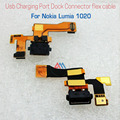 Original Replacement parts Usb Charging Port Dock Connector Flex Cable for nokia lumia 1020 microphone parts  fast shipping
