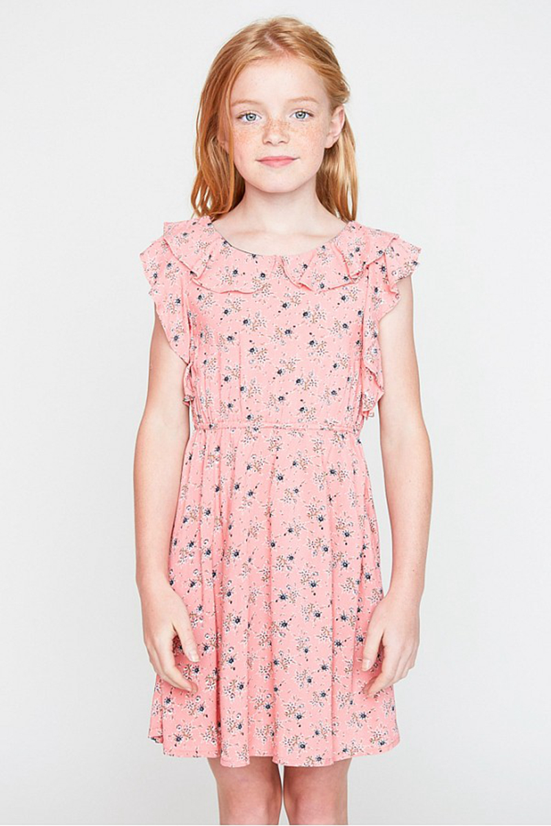 Teenager Gedruckt Floral Kleider Junior Mode Rüschen Kleid Großes ...