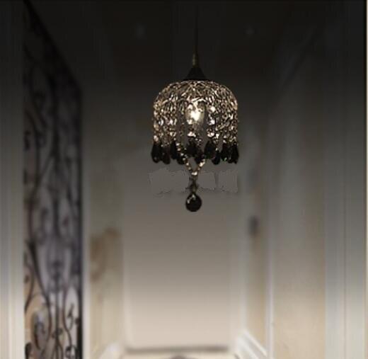 ФОТО Modern simple crystal bar pendant light entrance art creative for restaurant