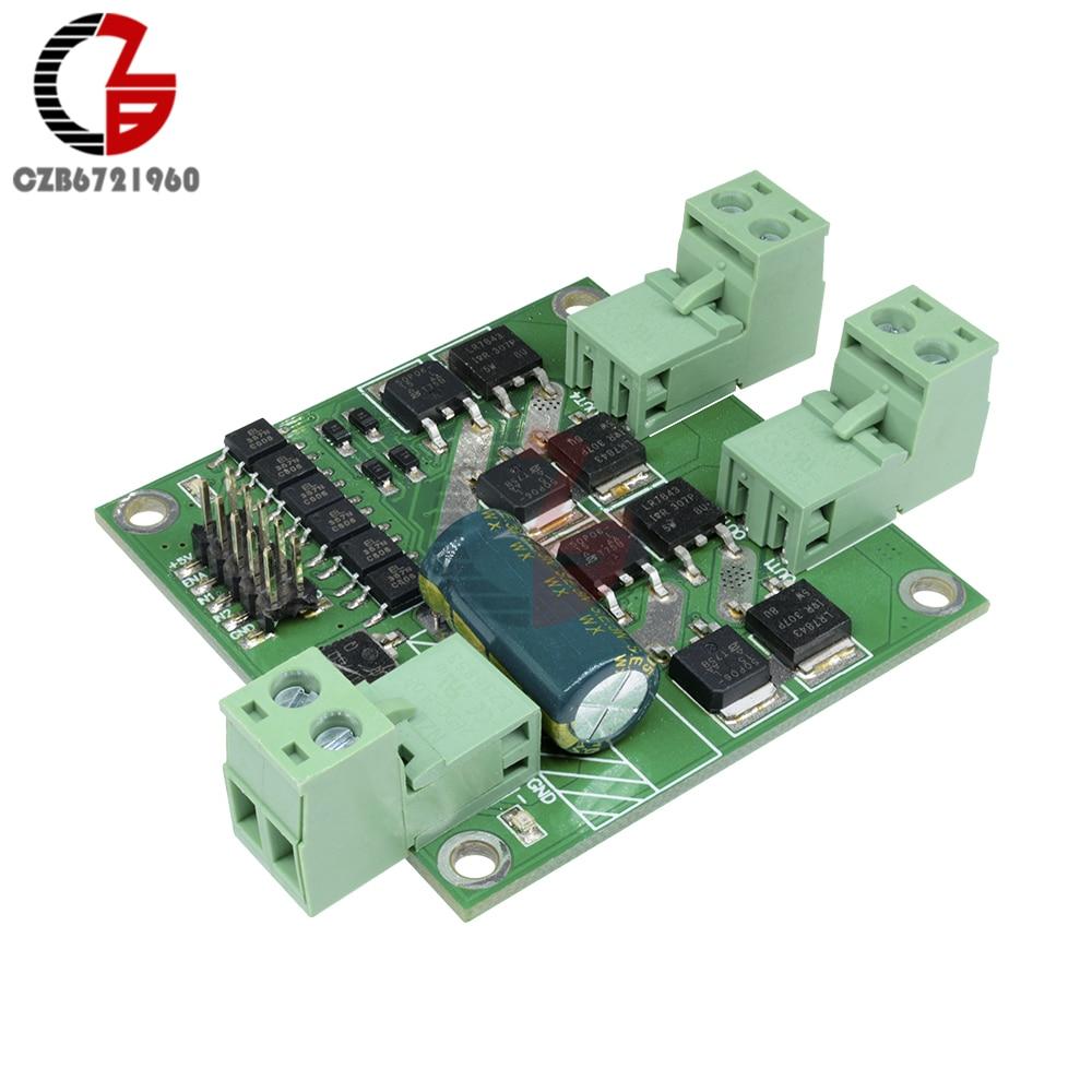 12V 24V 7A 160W Dual DC Motor Driver Module H-bridge L298 logic Control Signal Optocoupler PWM Drive Reversing Braking 12v 24v 7a 160w dual dc motor driver module board h bridge l298 logic