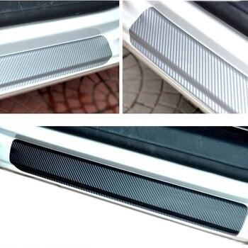 Door Sill Plate car accessories Carbon Fiber car Scuff Sticker Door Sill Sticker For Peugeot 206 207 307 308 3008 407 408 508 peugeot 307 aksesuar