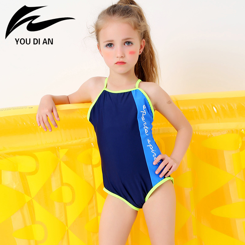 YOU DI AN Swimsuit Girls Swimwear Girl Children Swim Suit Kids Swimwear One Piece Bathing Suit Swimsuits Racing Swimming Suits one piece swimsuit children s swimwear girl children baby swim wear kids cute swimsuits 2017 new buoyancy life biquini infantil