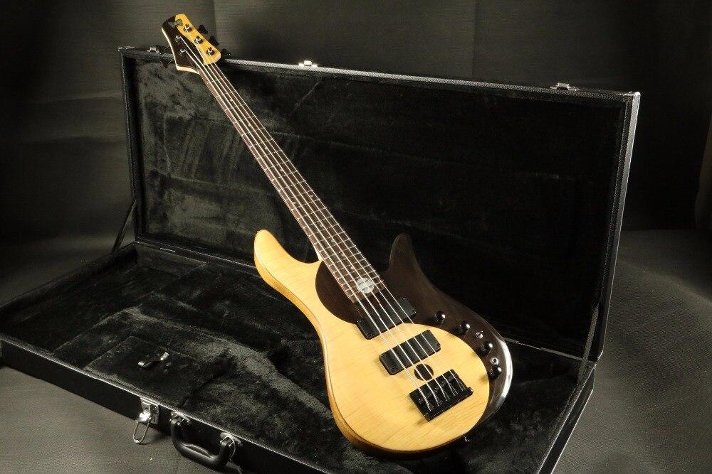 Haut de gamme qualité Érable Flammé Top Yin Yang TaiJI Couleur 5 cordes Basse Guitare basse Guitarra boulon sur le cou taiji guitare basse