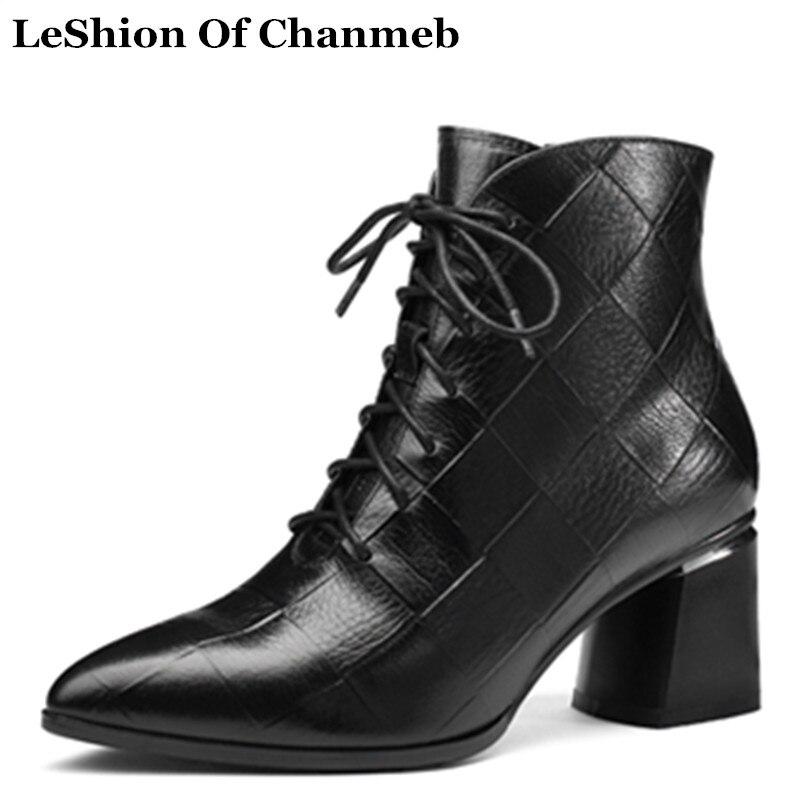 In 42 Genuino Más Cuero Marrón De Relieve Plush No brown In In Tamaño En Mujer black Las Black Grande Botas Negro Zapatos Otoño Mujeres p8wHxWA