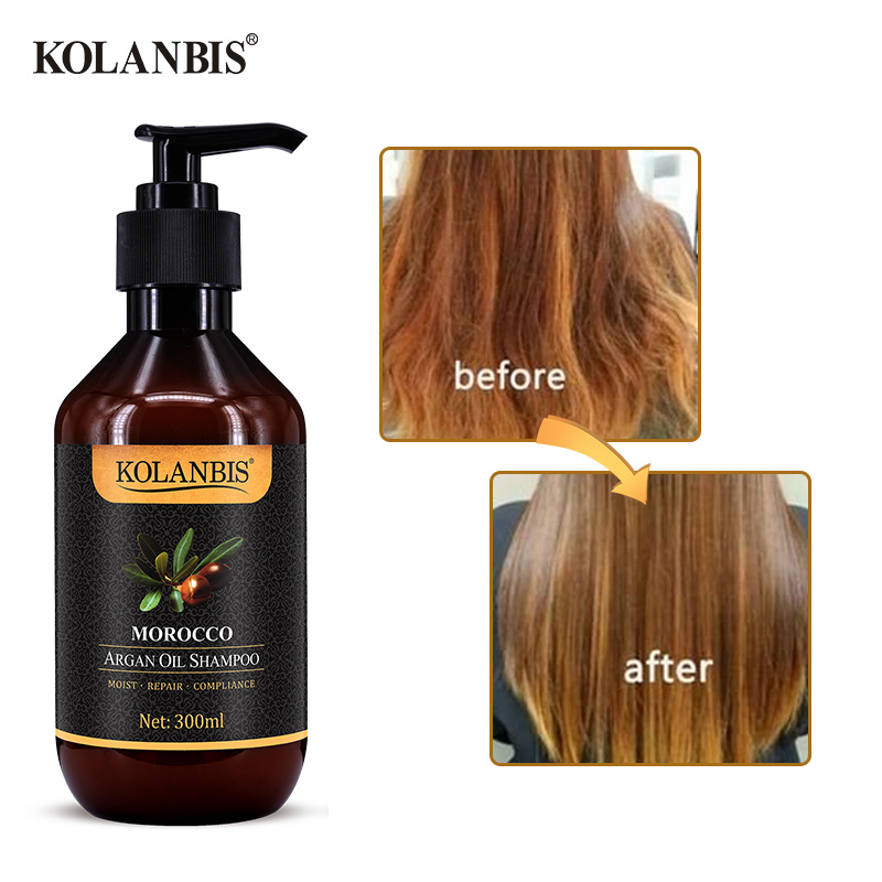 Morocco argan oil nutrition keratin shampoo for dry frizz hair split ends damage protein treatment 4