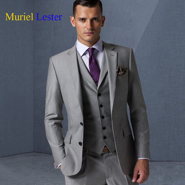 ML 10 latest coat pant designs Grey/black/Red men wedding suit ...