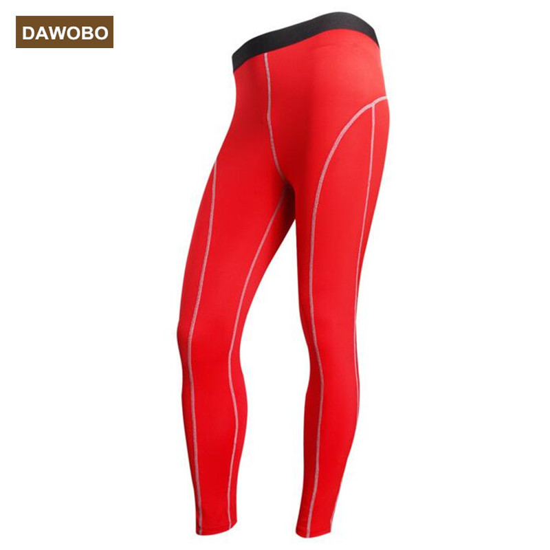 DAWOBO brand men Compression Tights Pants Fitness Pant Joggers High Elastic Breathable Sweat font b gym