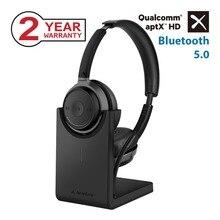 Avantree AptX HD inalámbrico en el oído Auriculares auriculares con de carga de escritorio soporte bluetooth 5,0 micrófono auriculares para llamadas TV PC