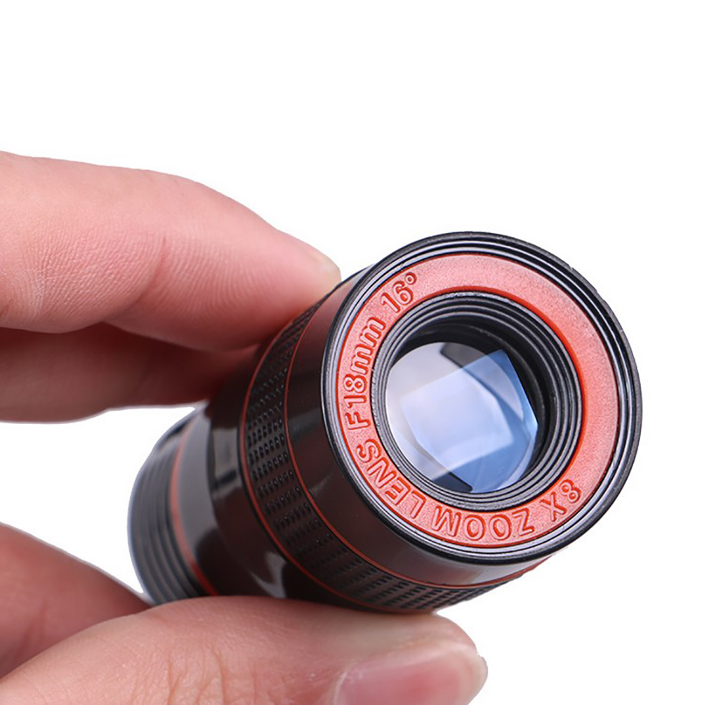 Universal 8X Optical Phone Camera Lens Telescope Monocular Wide angle for iPhone Huawei Samsung with free smartphone holder-in Monocular/Binoculars from Sports & Entertainment