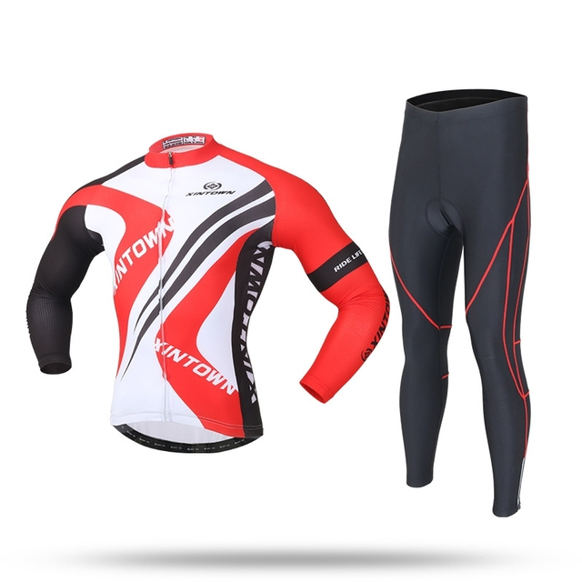 Thin Cycling Clothing Tights Suits Sets Long Sleeves Autumn Winter Cycling  Jersey Ropa Ciclismo Bicileta Bike Maillot MTB Bike cfab89354